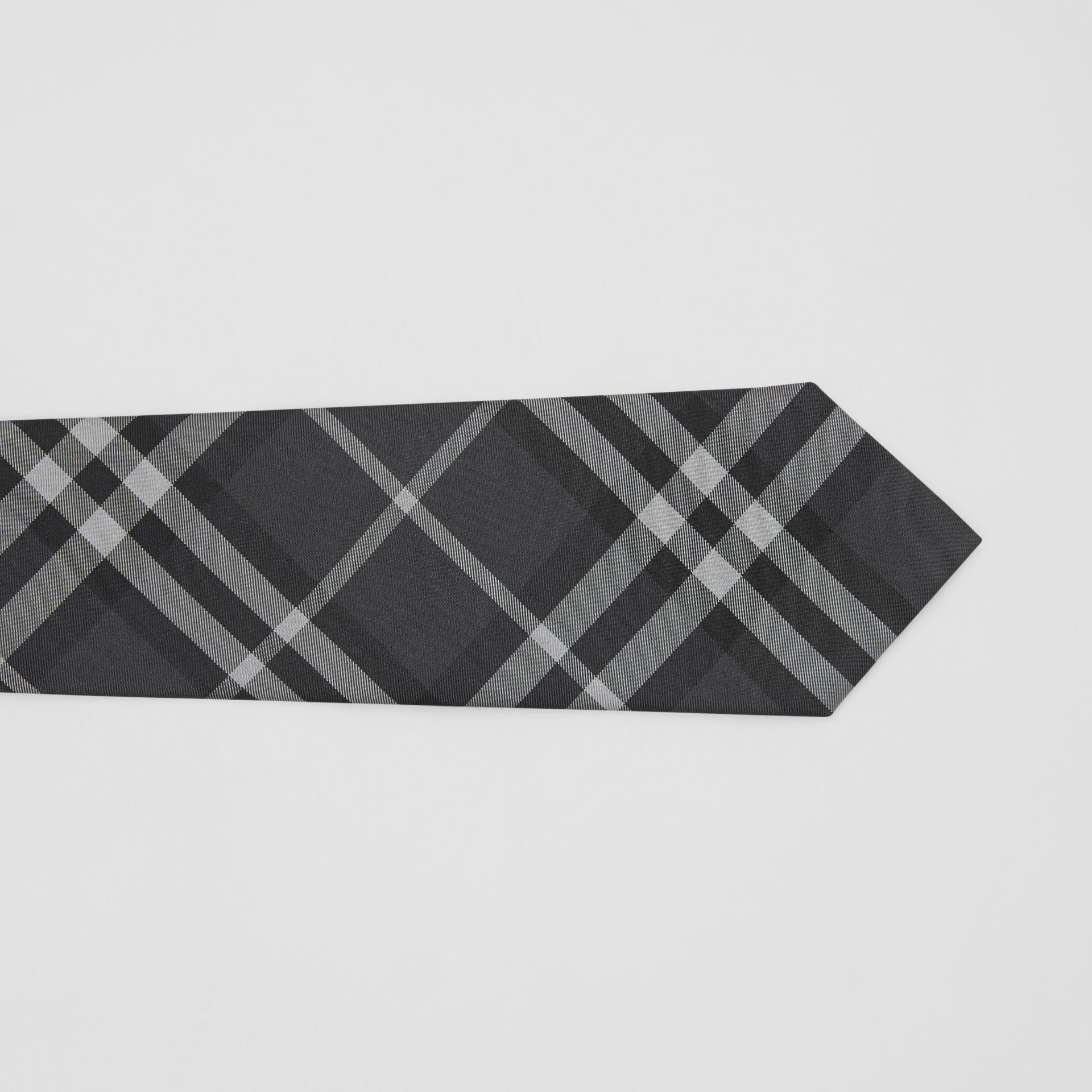 Classic Cut Vintage Check Silk Tie in Charcoal - Men | Burberry - gallery image 1