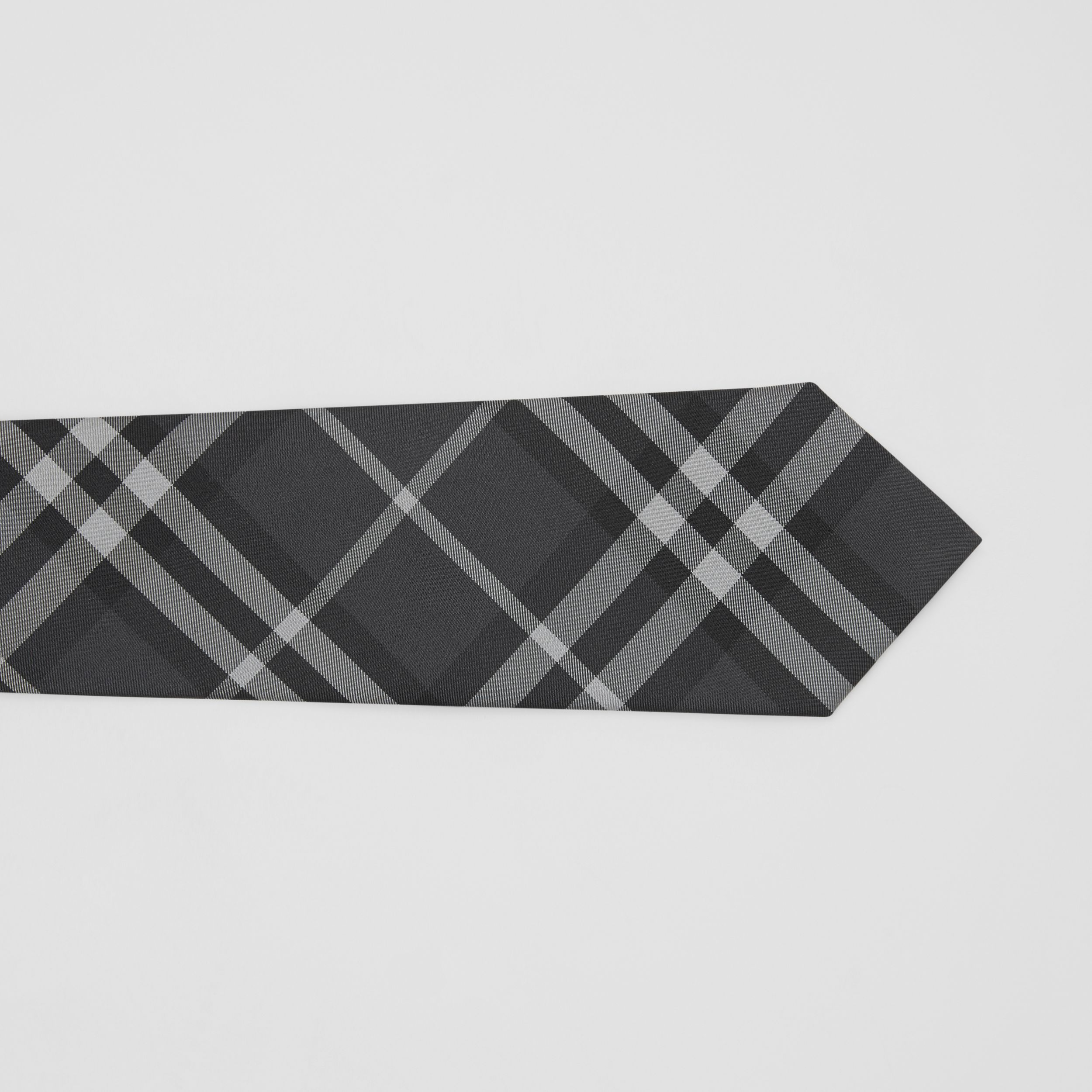 Classic Cut Vintage Check Silk Tie in Charcoal - Men | Burberry - 2