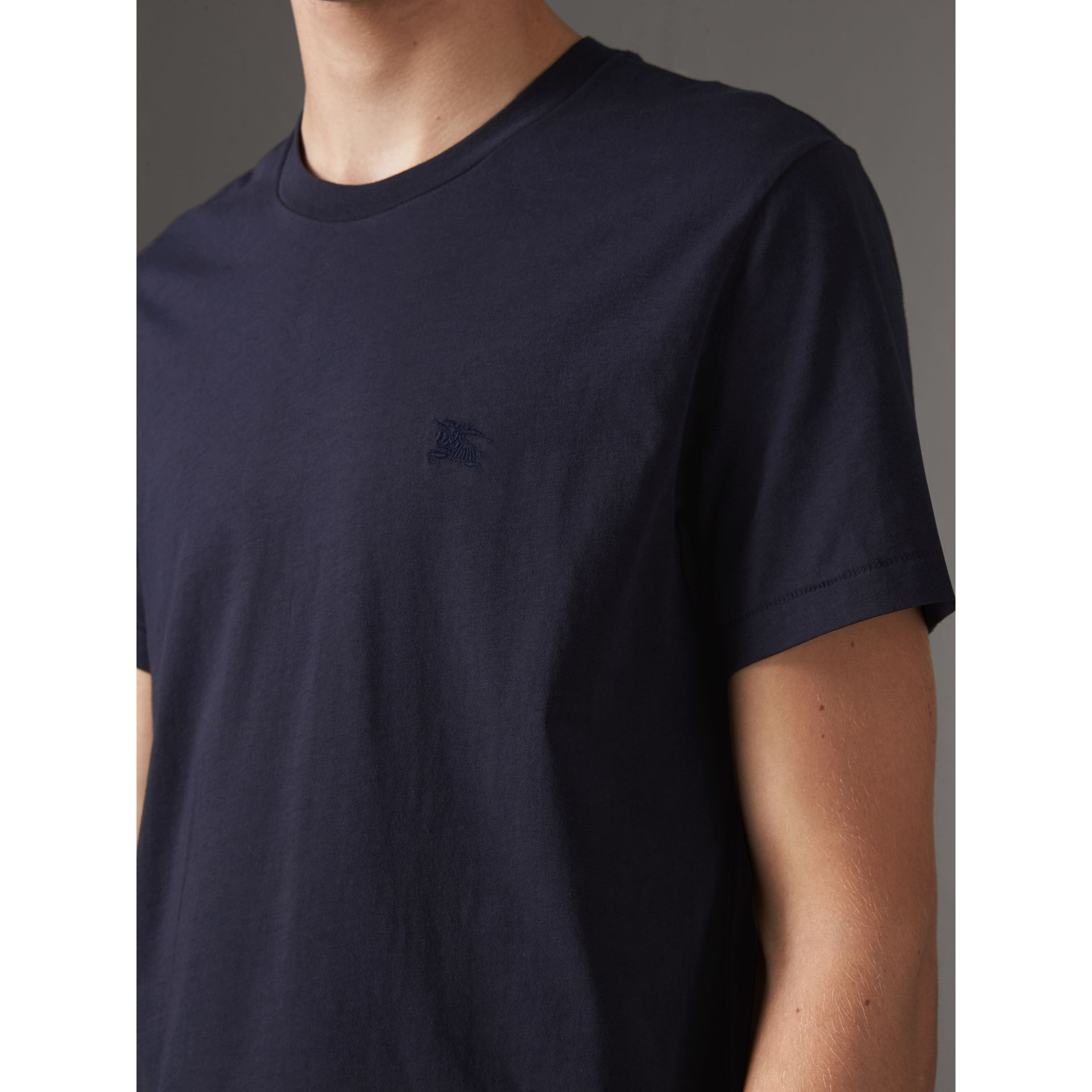 Cotton Jersey T-shirt in Navy - Men | Burberry United States - gallery image 1