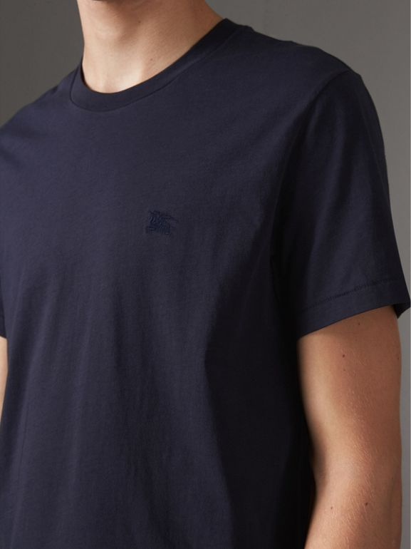 Cotton Jersey T-shirt in Navy - Men | Burberry - cell image 1