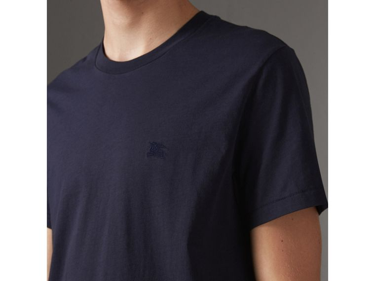 T-shirt in jersey di cotone (Navy) - Uomo | Burberry - cell image 1