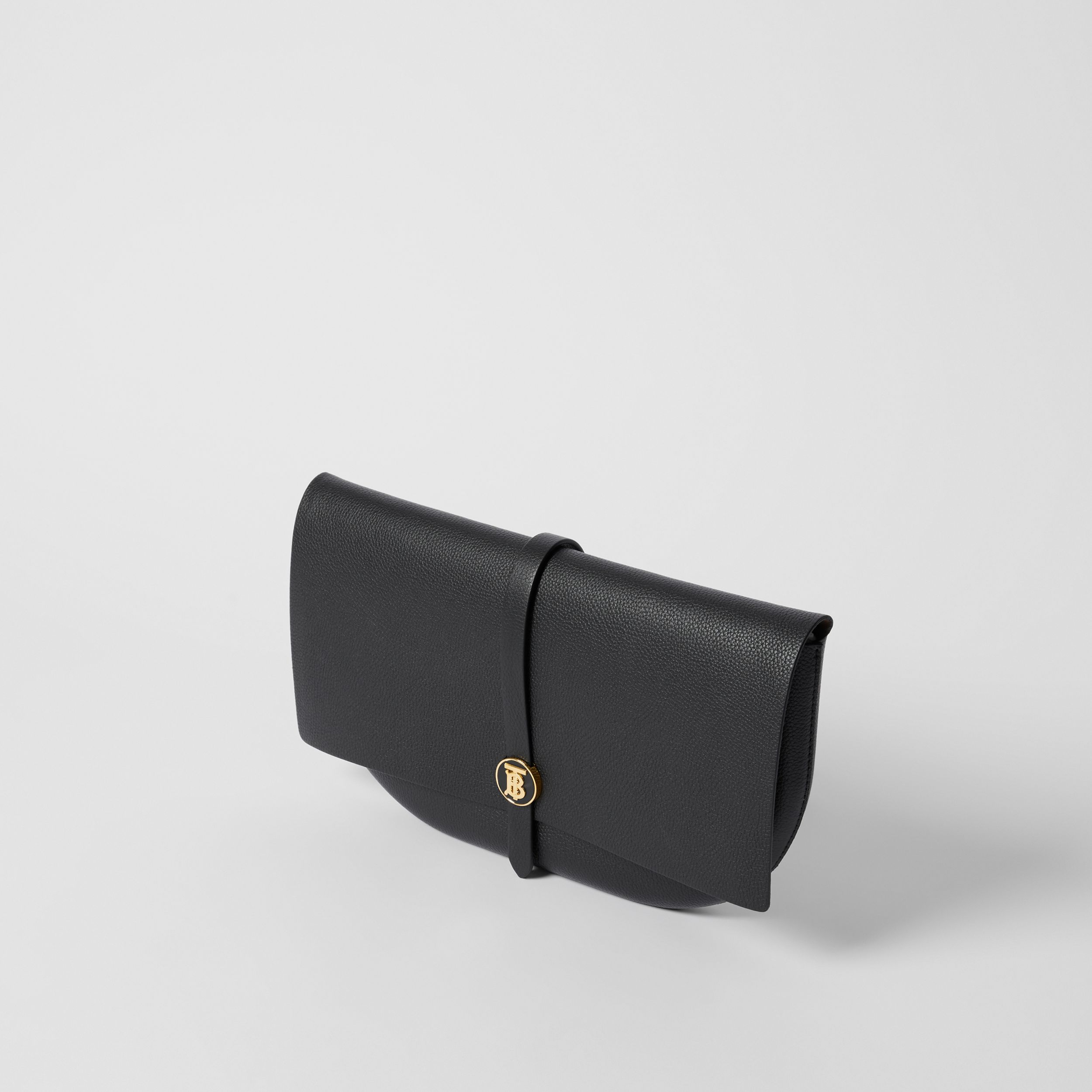 Grainy Leather Anne Clutch in Black - Women | Burberry Australia - 4