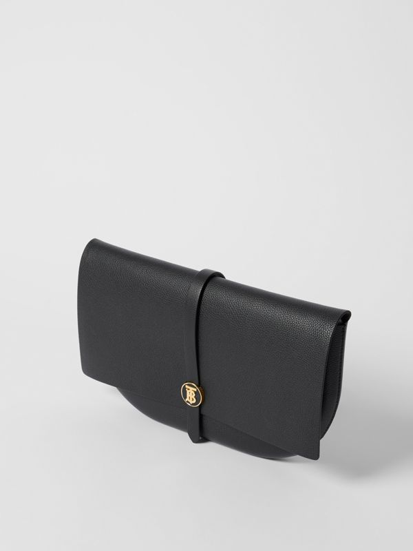 Grainy Leather Anne Clutch in Black - Women | Burberry United Kingdom - cell image 3