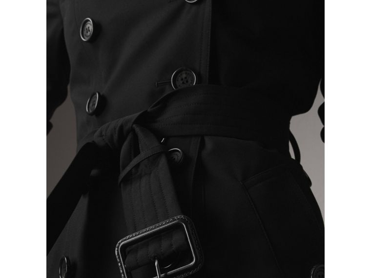 The Chelsea – Mid-length Trench Coat in Black - Women | Burberry - cell image 4
