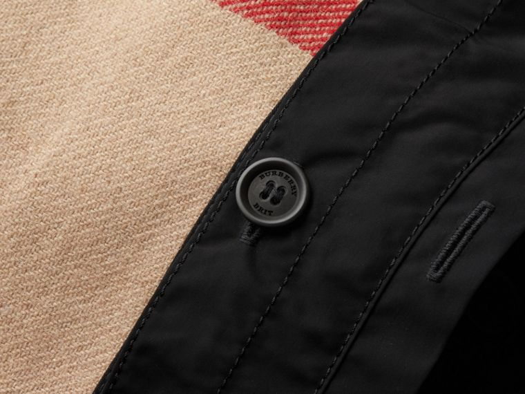 Showerproof Hooded Jacket with Removable Warmer in Black - Men | Burberry - cell image 1