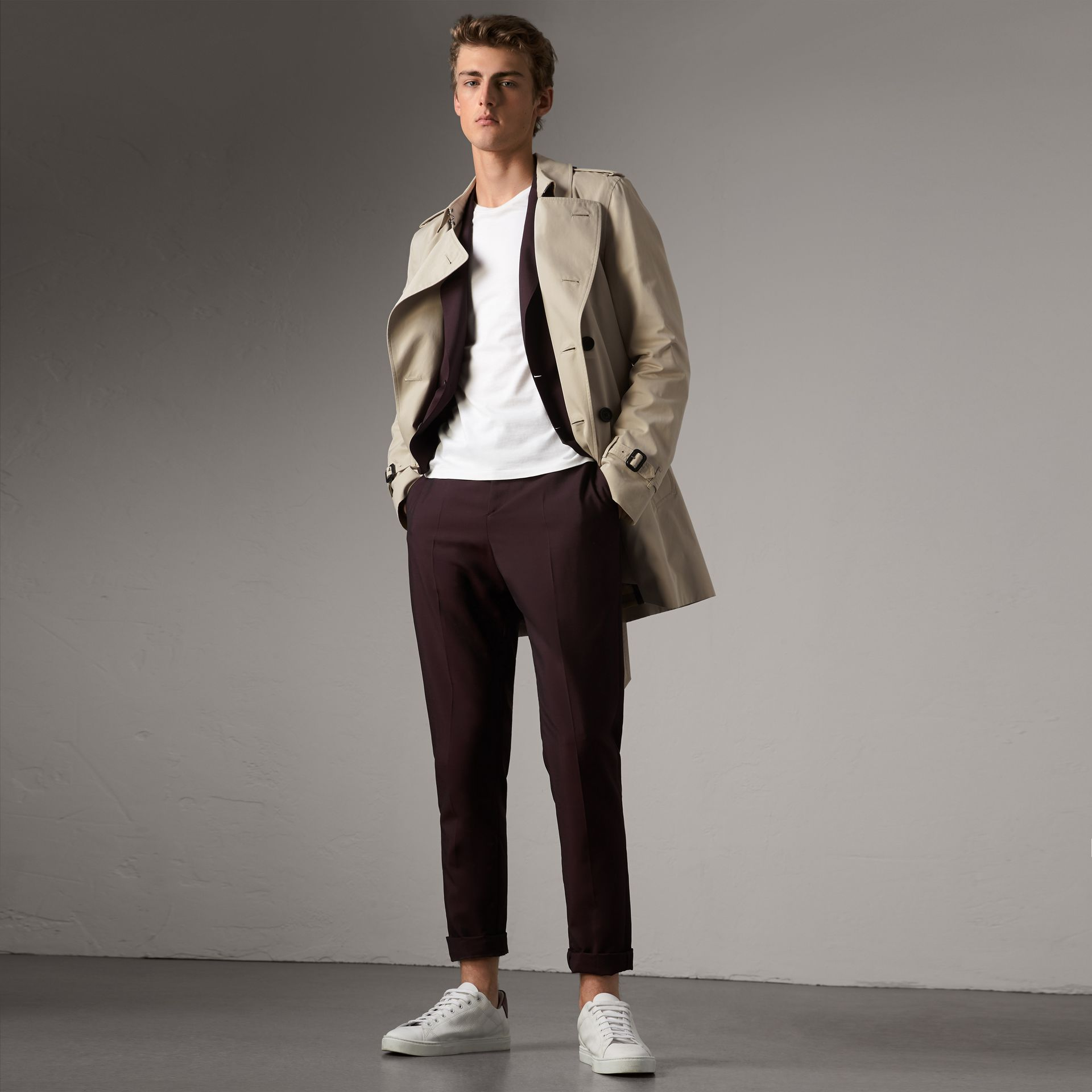 The Kensington – Trench mi-long (Stone) - Homme | Burberry - photo de la galerie 0