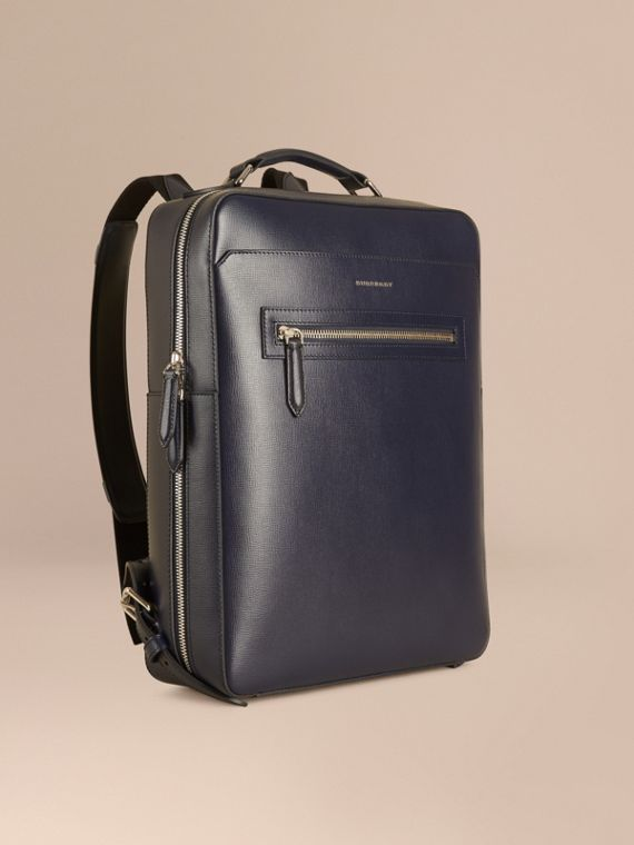 London Leather Backpack Dark Navy
