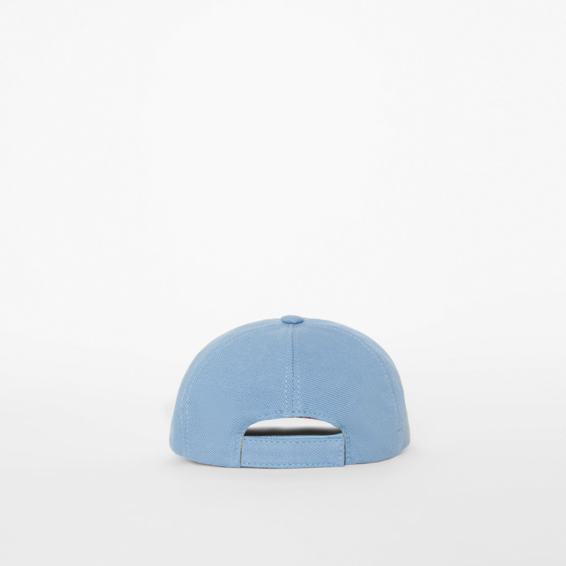Stencil Logo Print Baseball Cap in Bright Cyan Blue - Children | Burberry - gallery image 2