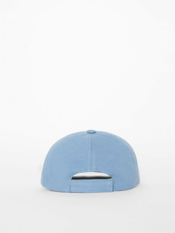 Stencil Logo Print Baseball Cap in Bright Cyan Blue - Children | Burberry - cell image 2