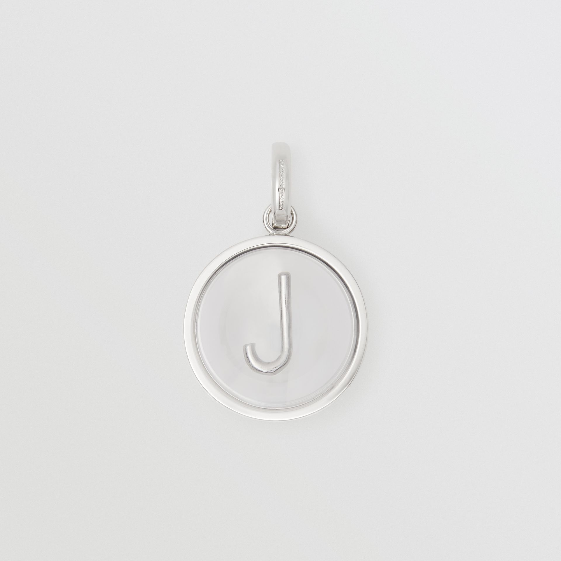 Marbled Resin 'J' Alphabet Charm in Palladio/nacre - Women | Burberry United Kingdom - gallery image 0