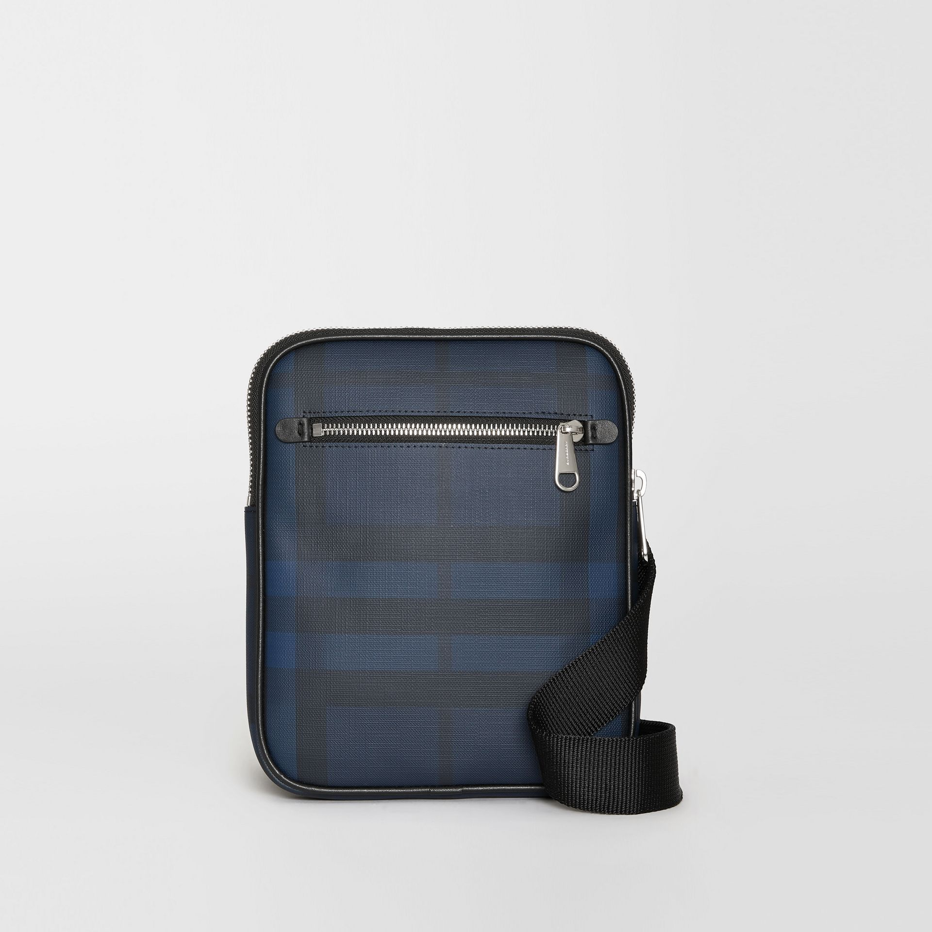 Slim London Check Crossbody Bag in Navy/black - Men | Burberry - gallery image 0