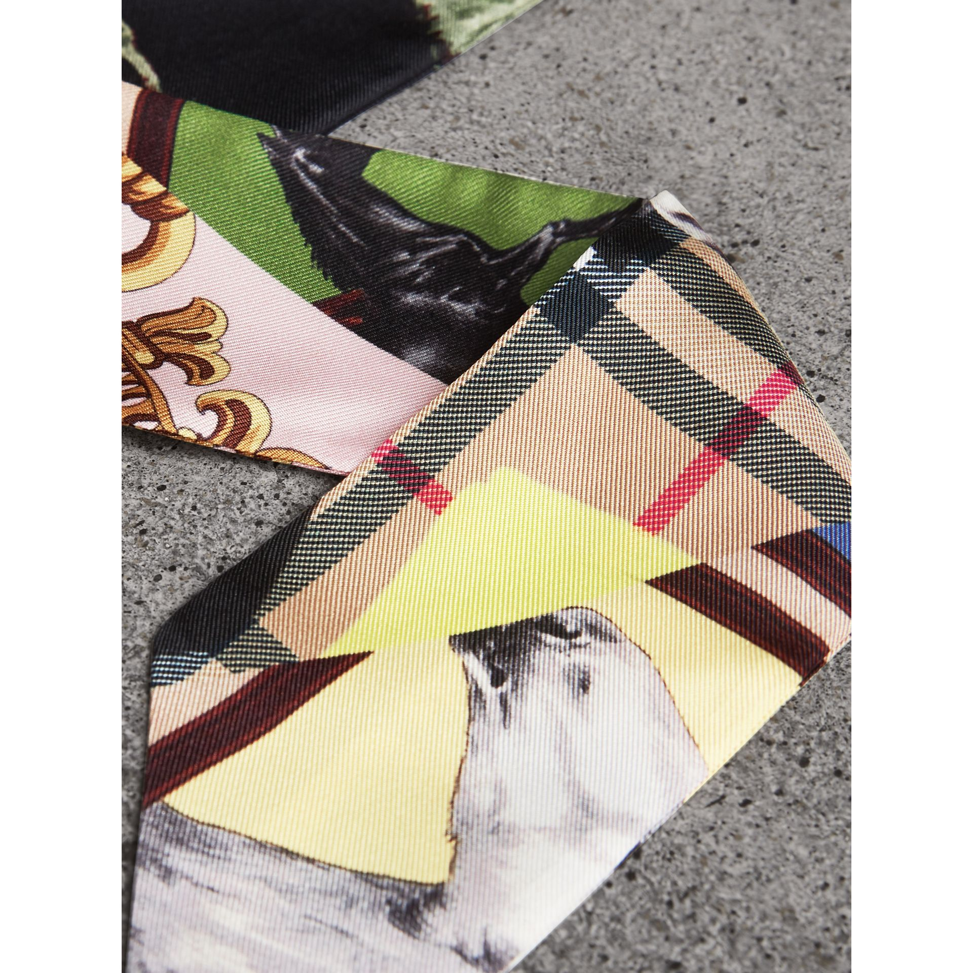 Archive Scarf Print Silk Skinny Scarf in Multicolour - Women | Burberry Canada - gallery image 1
