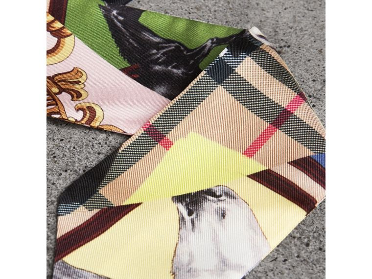 Archive Scarf Print Silk Slim Scarf in Multicolour - Women | Burberry - cell image 1