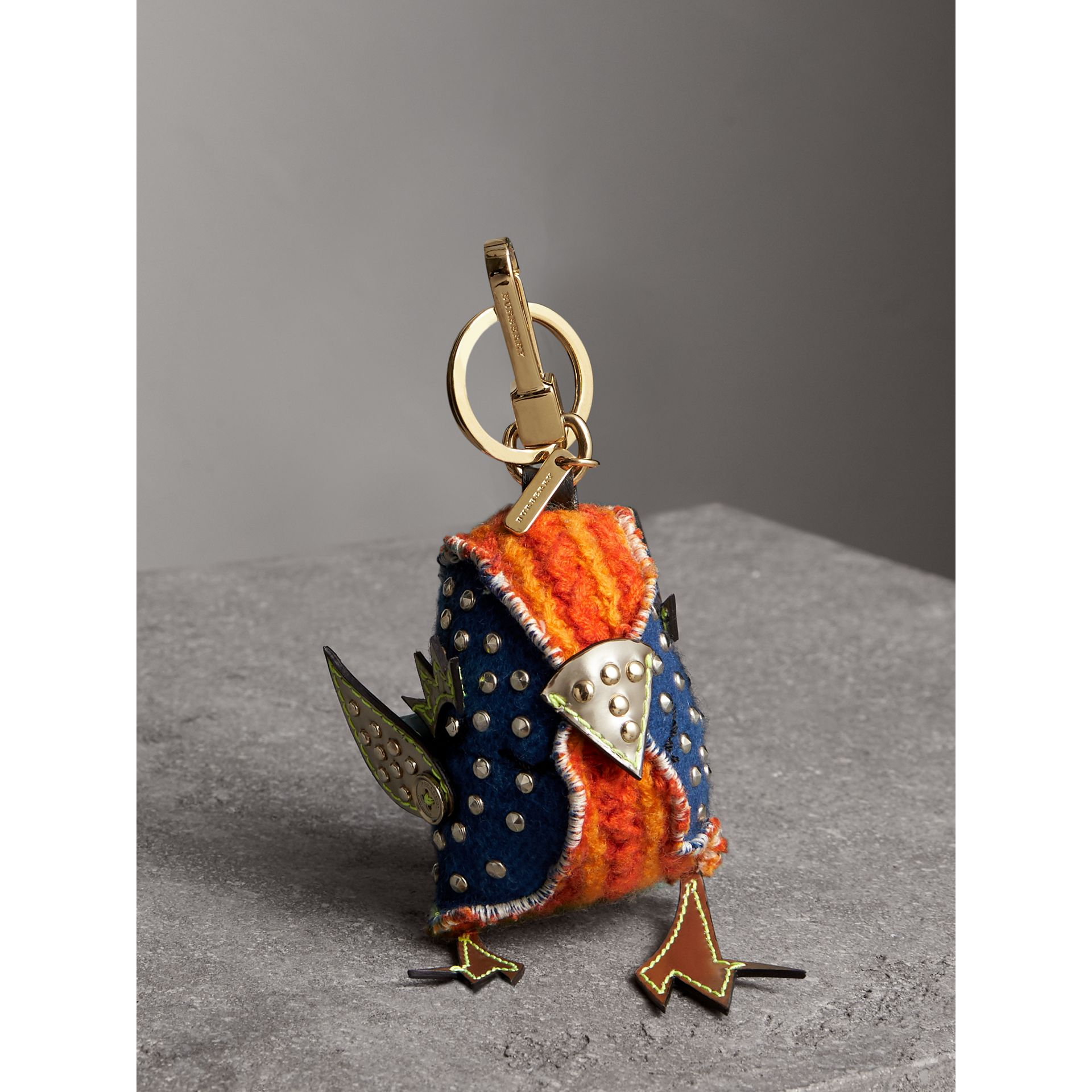 Derek The Bird Cashmere Charm in Clementine | Burberry United Kingdom - gallery image 0