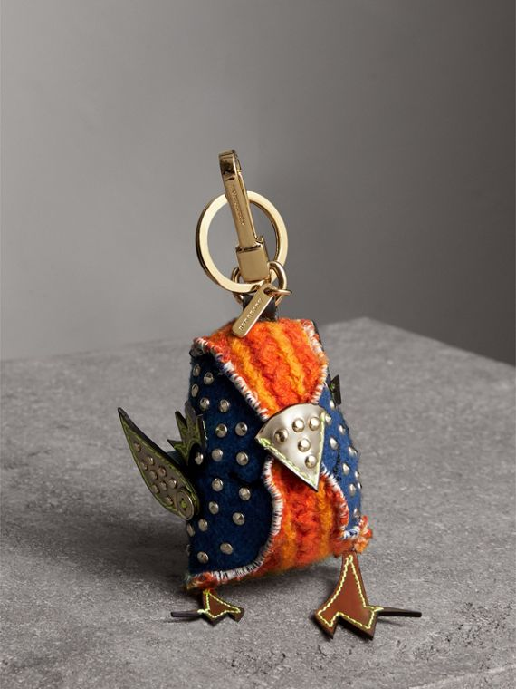 Derek The Bird Cashmere Charm in Clementine