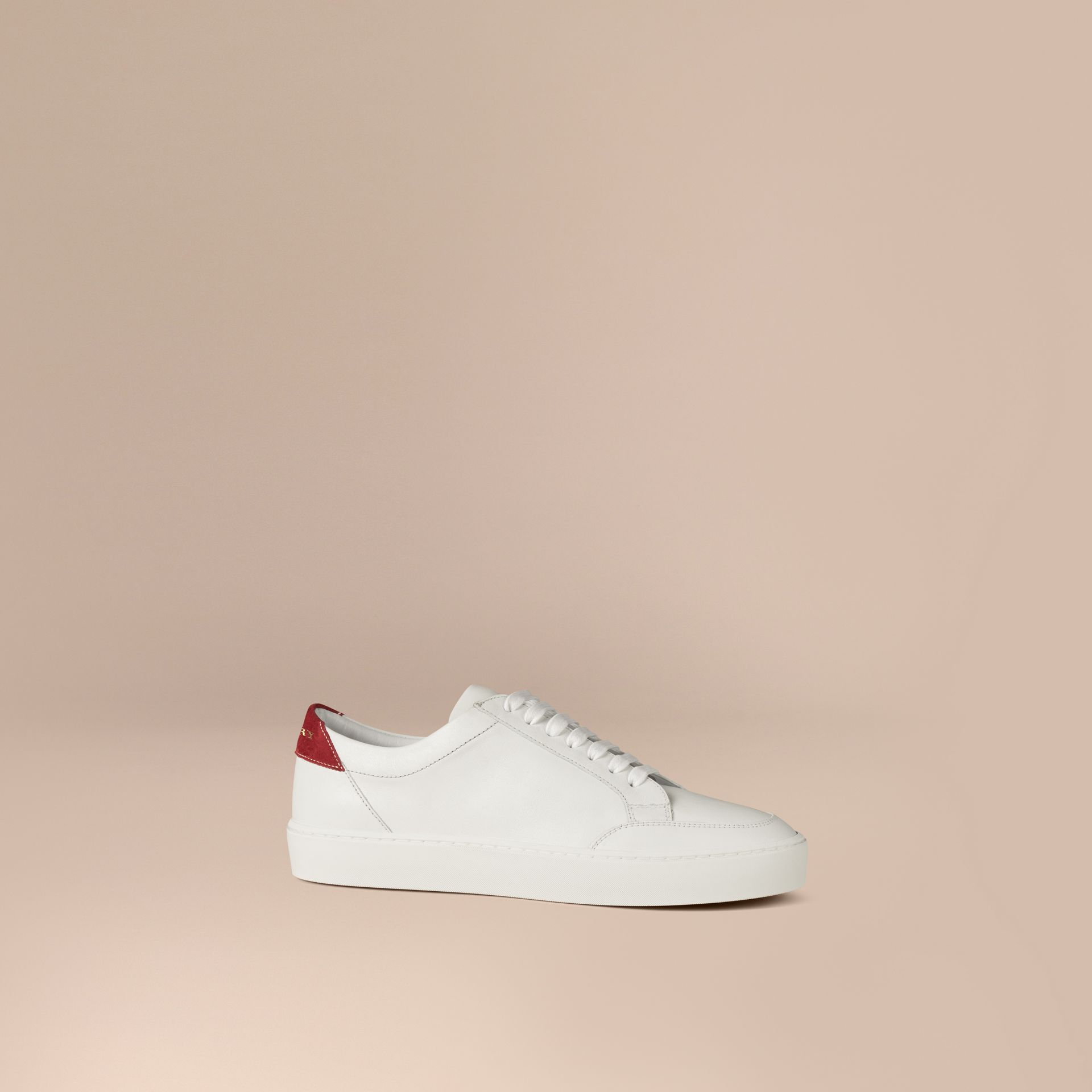 Cherry Leather Sneakers - gallery image 1
