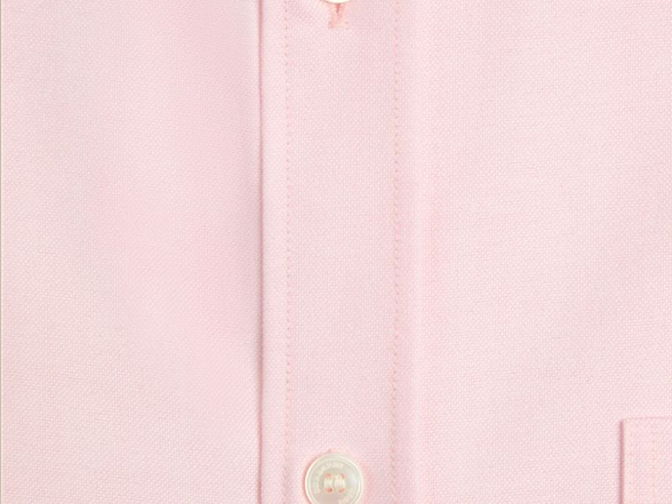 Pale pink Check Detail Cotton Oxford Shirt Pale Pink - cell image 1