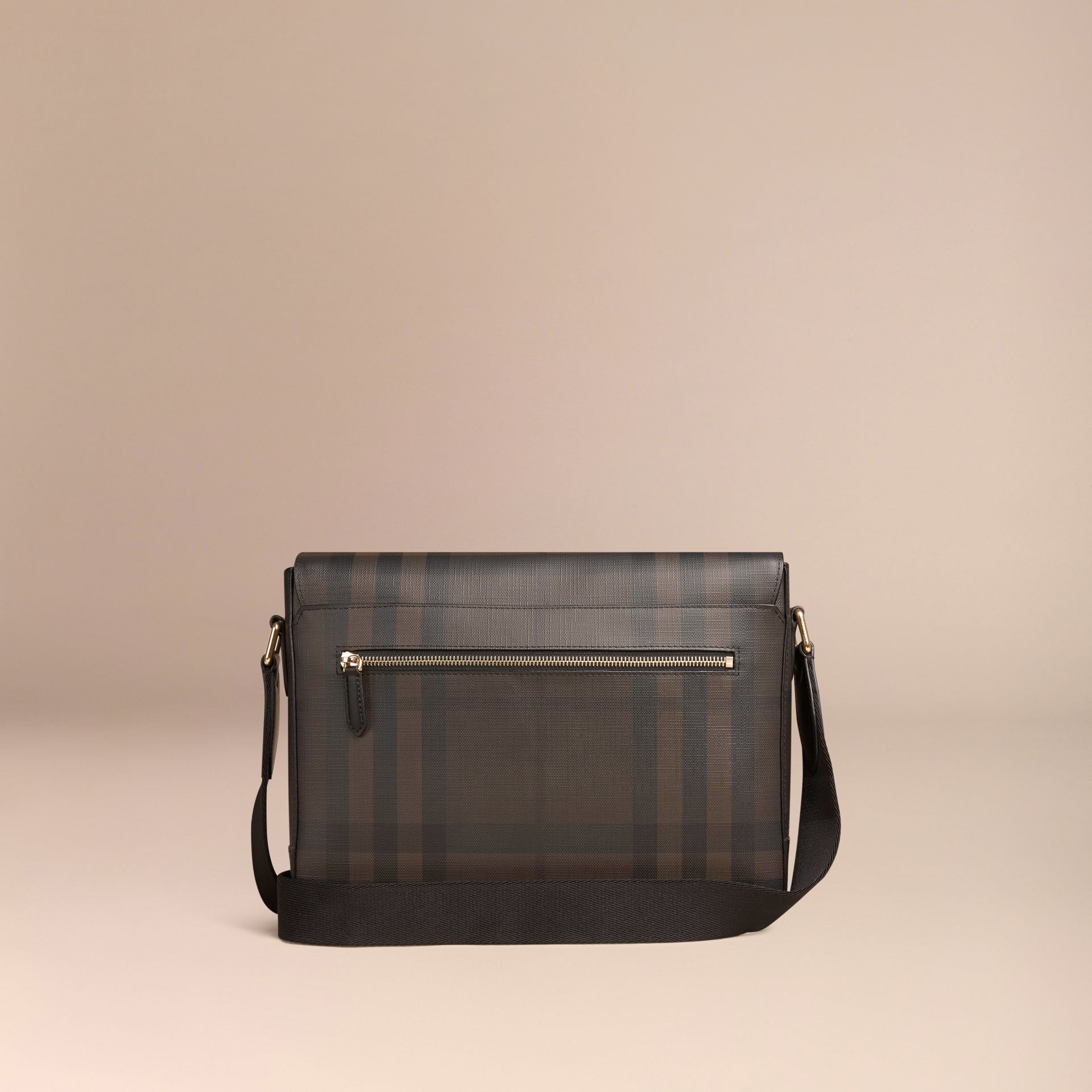 Chocolate/black Small London Check Messenger Bag Chocolate/black - gallery image 4