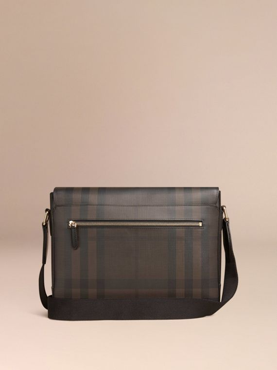 Chocolate/black Small London Check Messenger Bag Chocolate/black - cell image 3