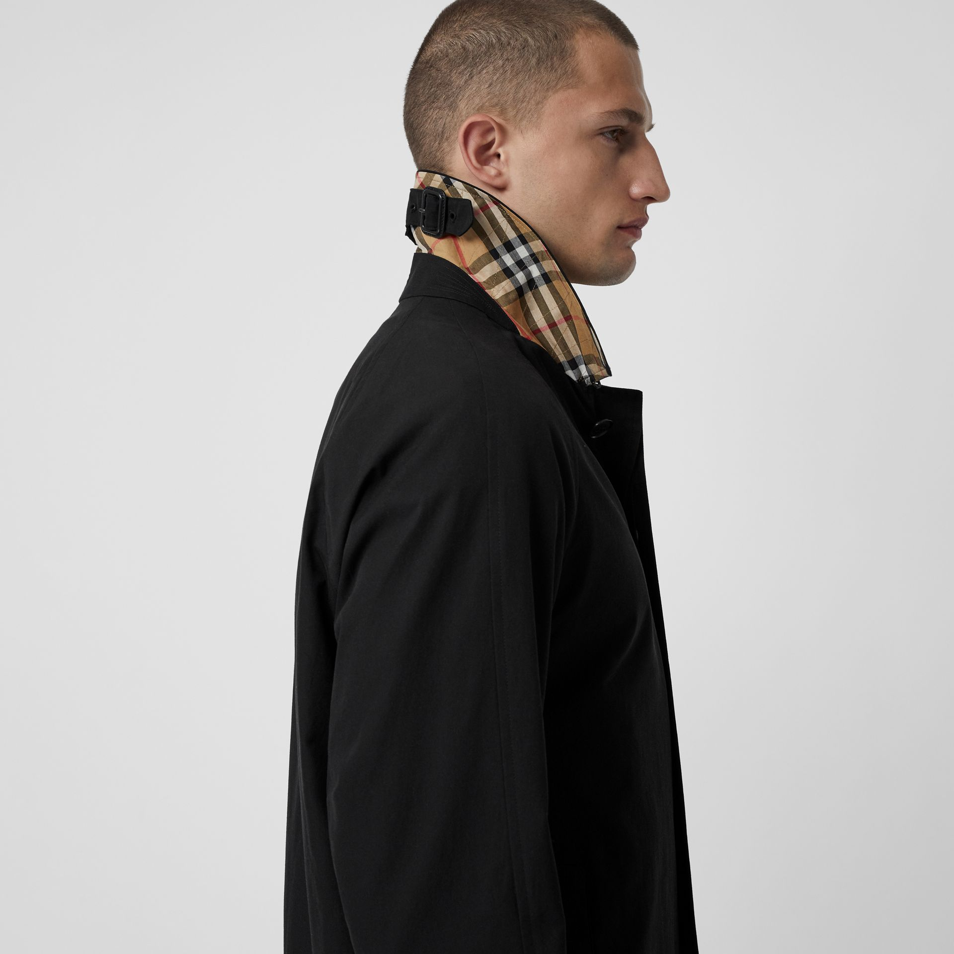 The Camden Car Coat in Black - Men | Burberry - gallery image 1