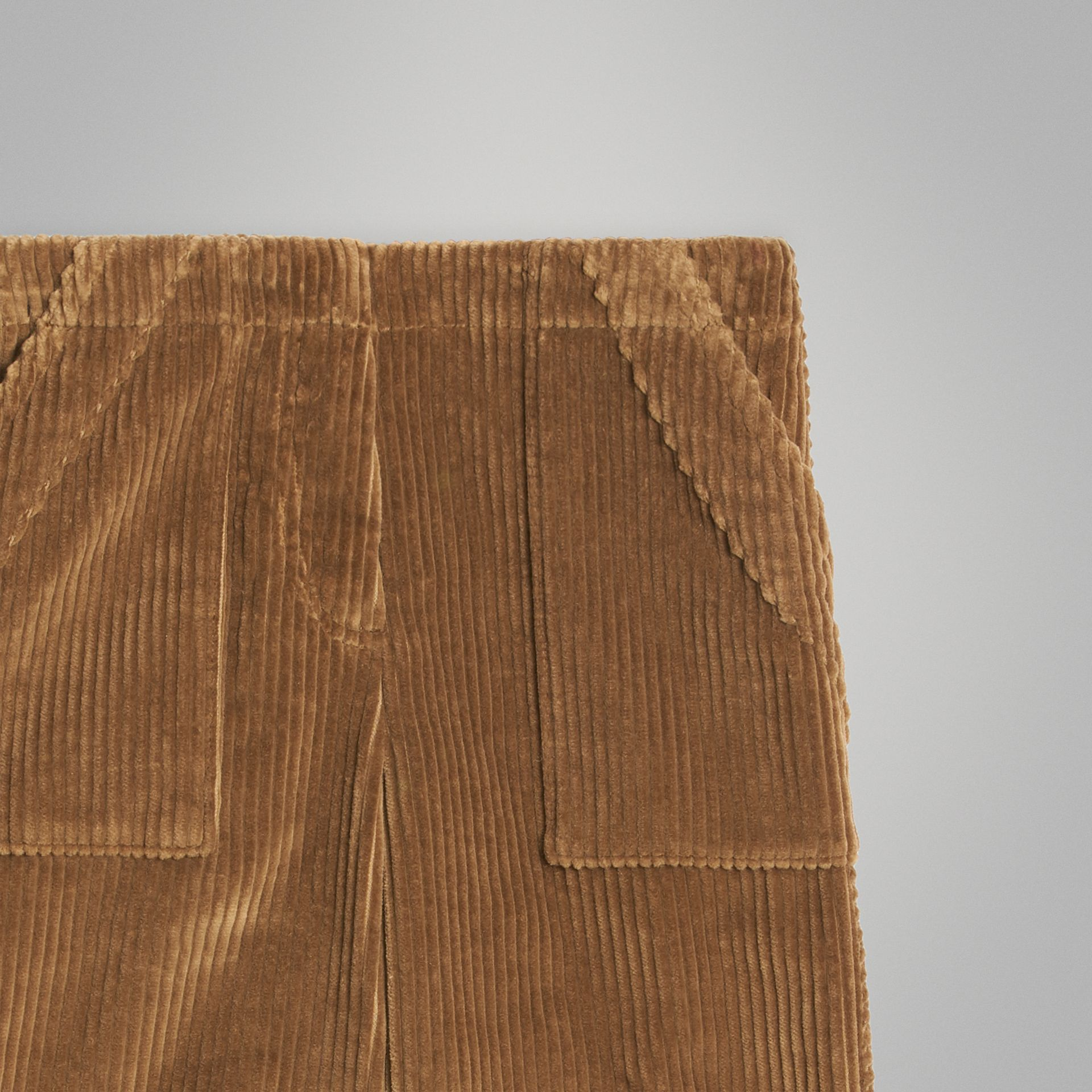 Corduroy Wide-leg Trousers in Toffee | Burberry Singapore - gallery image 4