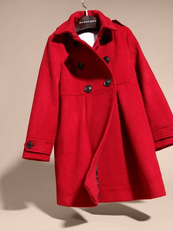 Parade red Cashmere Military Coat Parade Red - cell image 2