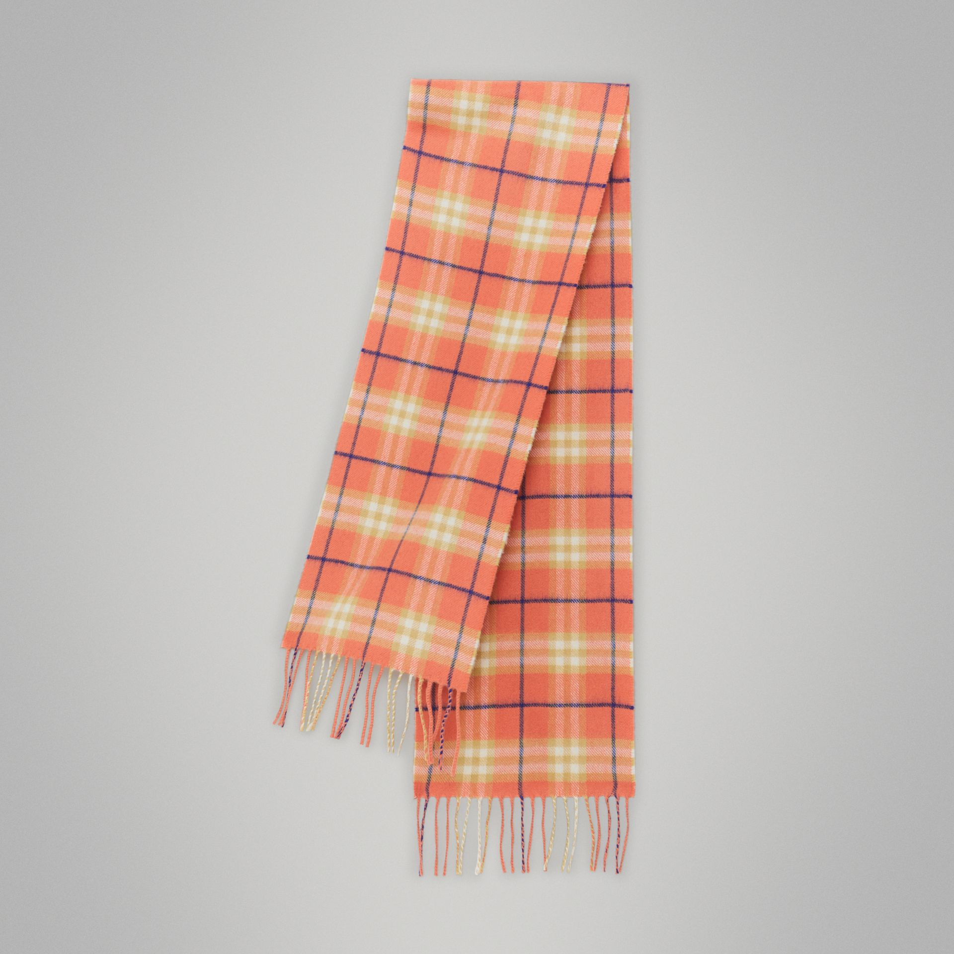 The Mini Classic Vintage Check Cashmere Scarf in Coral - Children | Burberry Australia - gallery image 0