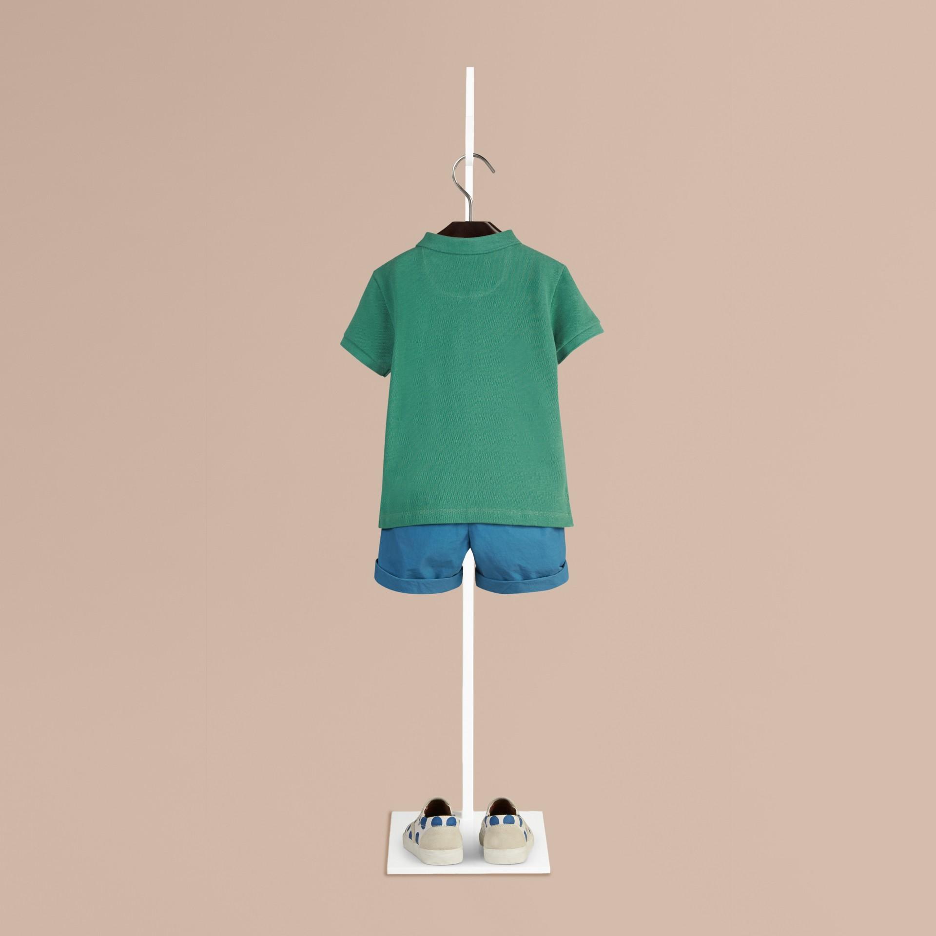 Storm green Camisa polo com tira de botões xadrez Storm Green - galeria de imagens 2