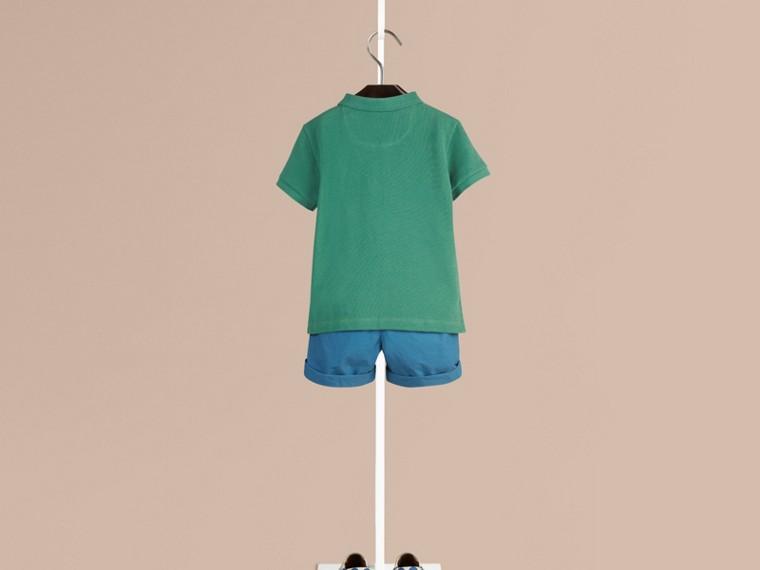 Storm green Camisa polo com tira de botões xadrez Storm Green - cell image 1