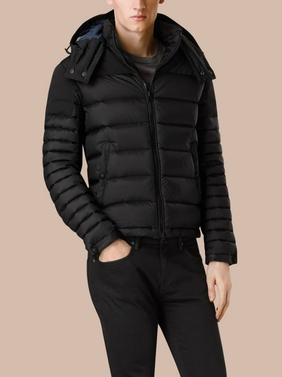 Black Mid-weight Down-filled Technical Puffer Jacket Black - cell image 2