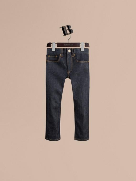 Skinny-Jeans aus Stretchbaumwolle in Indigo
