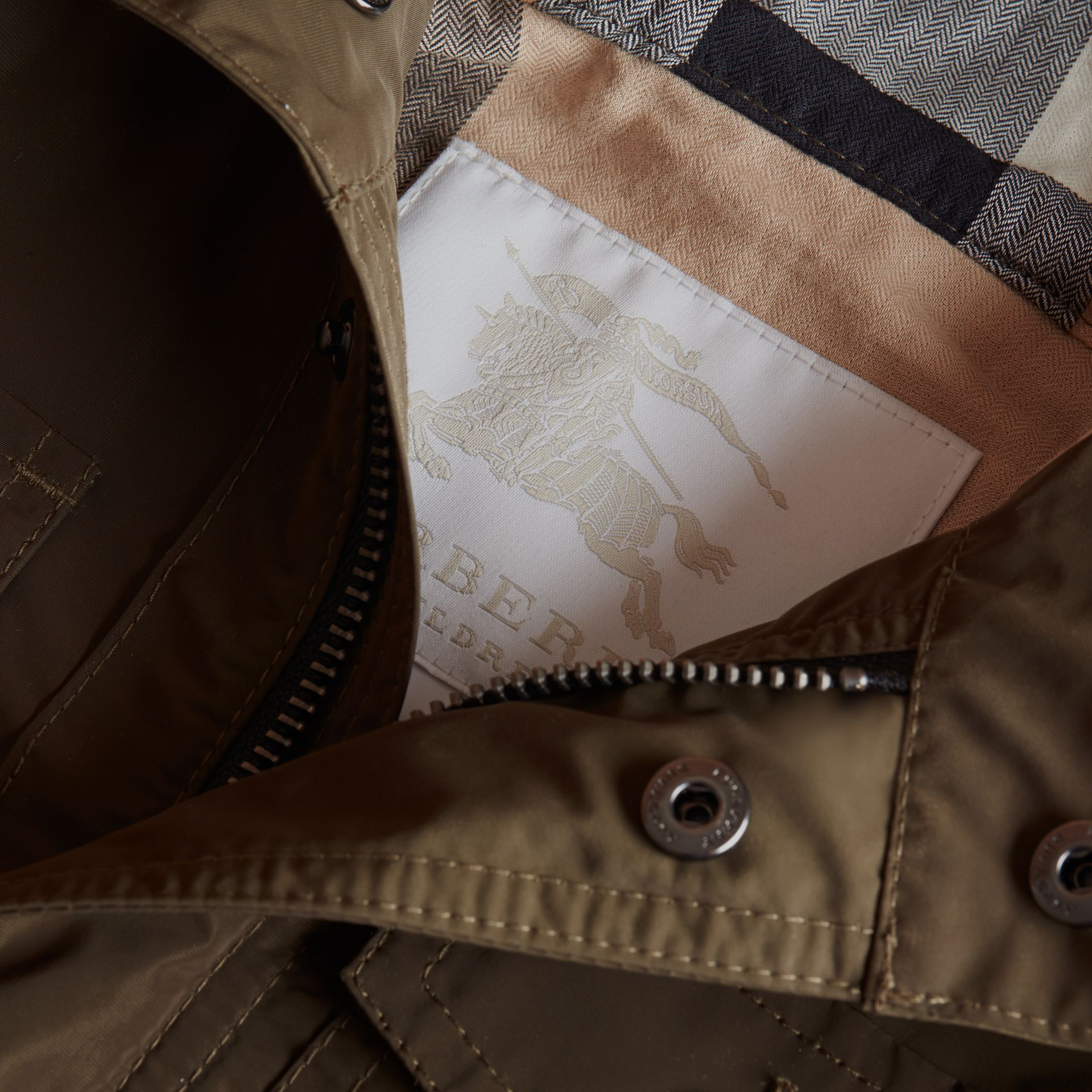Hooded Field Jacket in Khaki - Boy | Burberry - gallery image 2