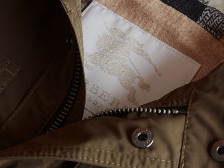 Hooded Field Jacket in Khaki - Boy | Burberry - cell image 1