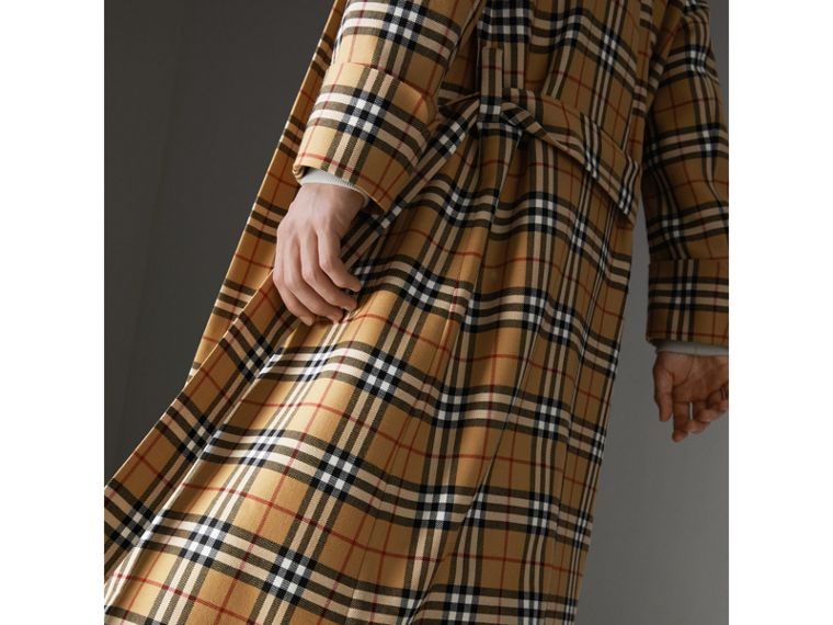 Reissued Vintage Check Dressing Gown Coat in Antique Yellow - Men | Burberry Hong Kong - cell image 1