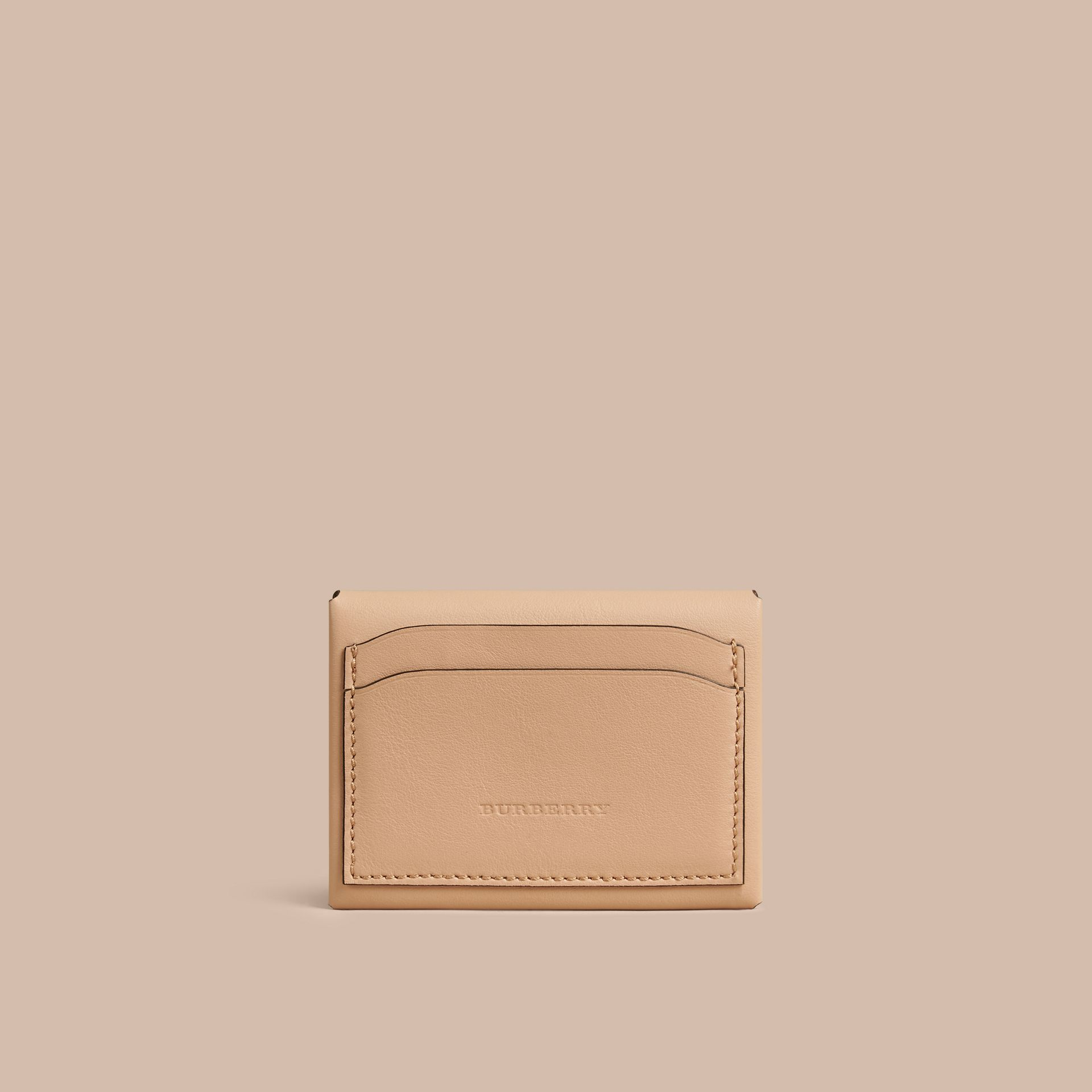 Pale apricot Leather Coin Case Pale Apricot - gallery image 2