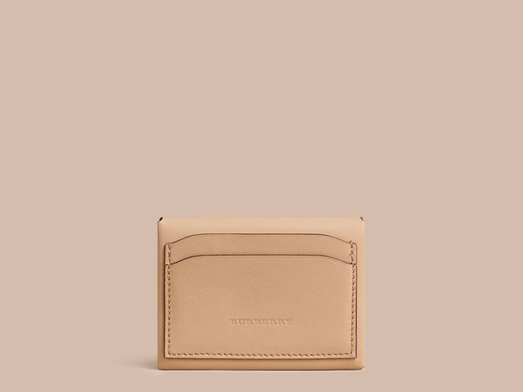 Pale apricot Leather Coin Case Pale Apricot - cell image 1