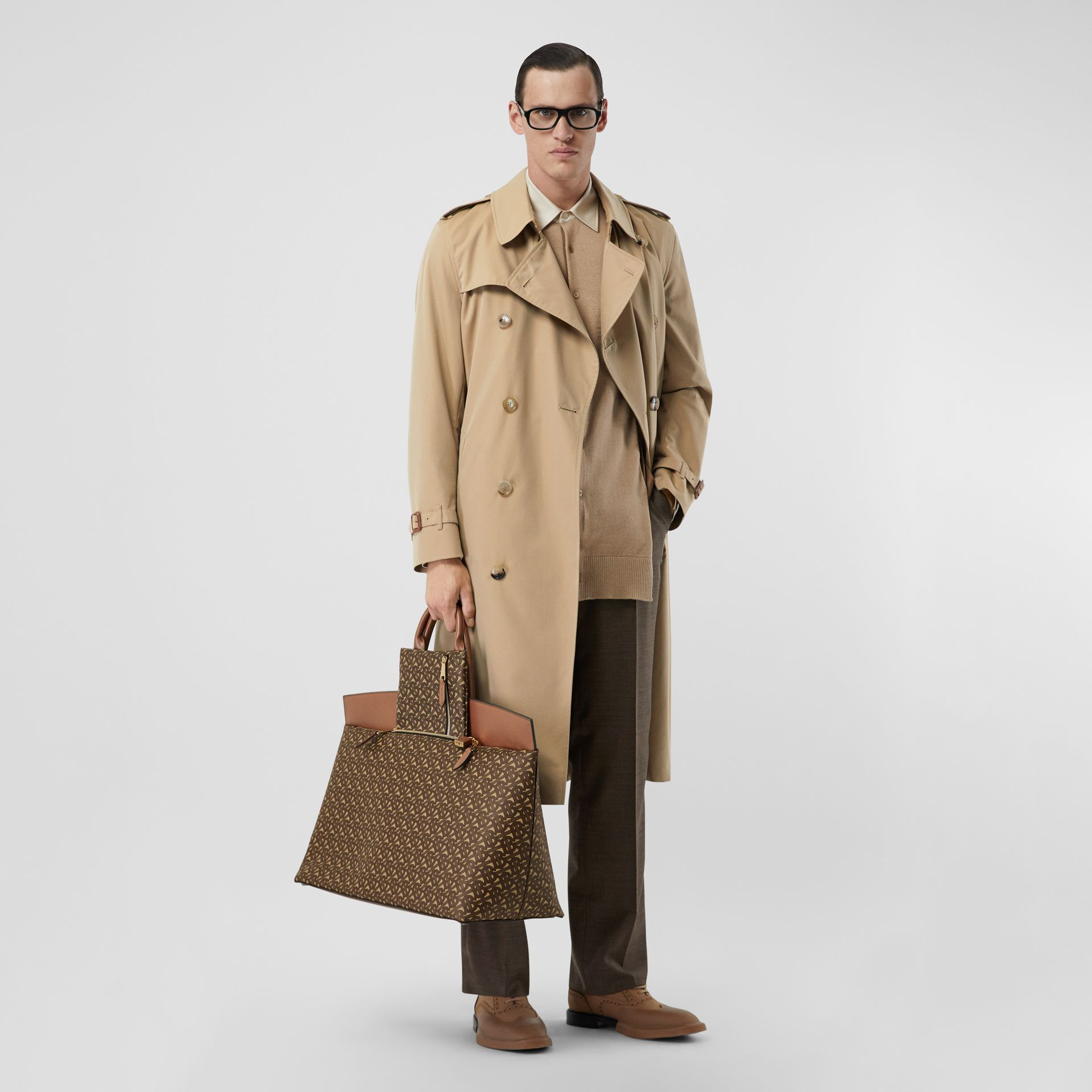 The Long Kensington Heritage Trench Coat in Honey - Men | Burberry - gallery image 0