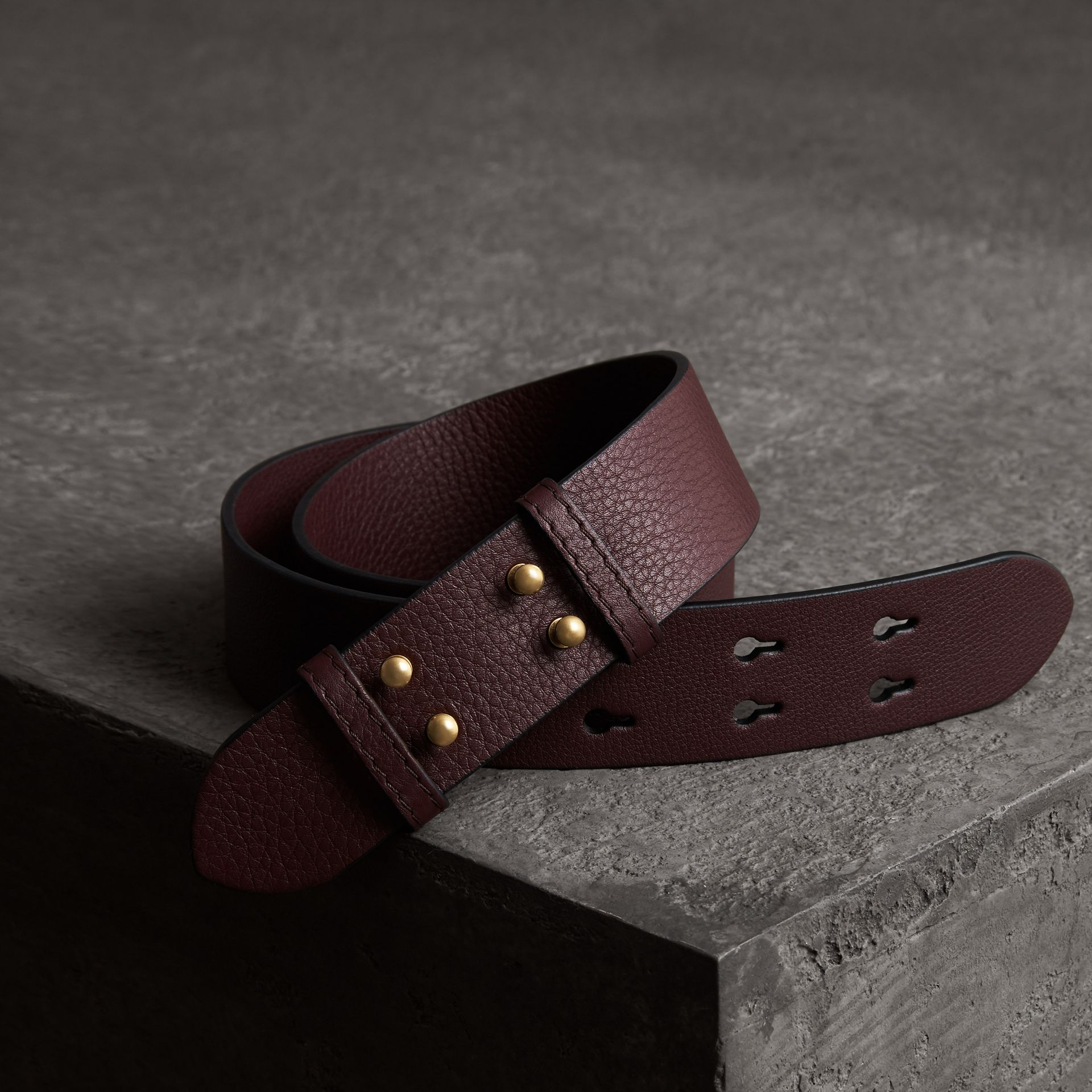 The Small Belt Bag Grainy Leather Belt in Deep Claret - Women | Burberry - gallery image 0