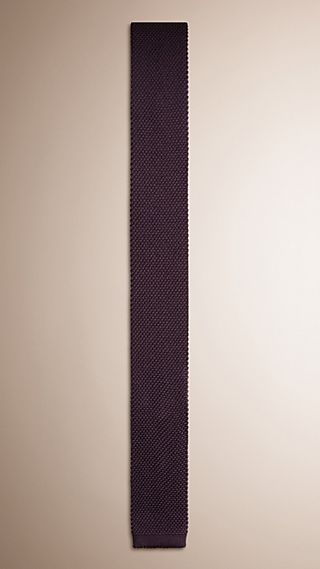 Slim Cut Knitted Silk Tie