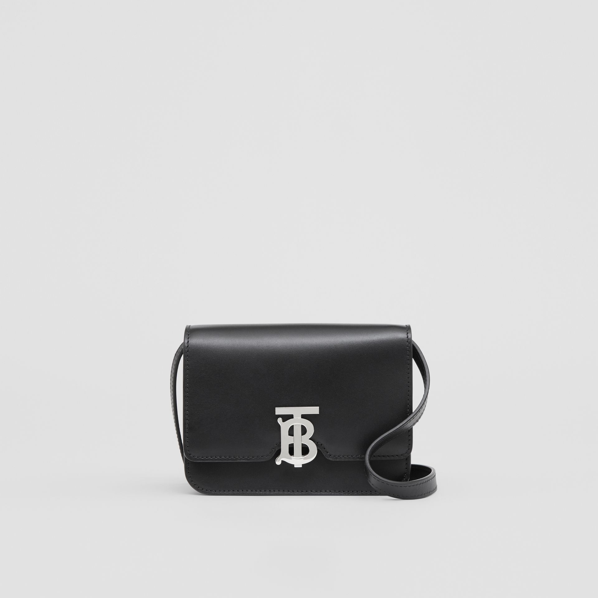 Mini Leather TB Bag in Black - Women | Burberry - gallery image 0