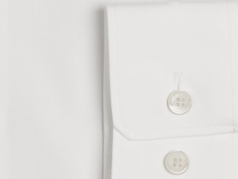 Slim Fit Button-down Collar Cotton Poplin Shirt - Men | Burberry - cell image 1