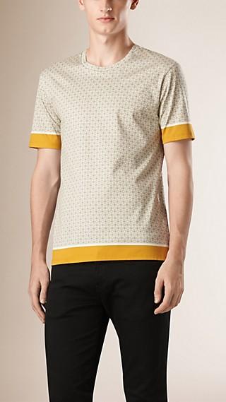 Camiseta en algodón con estampado gráfico