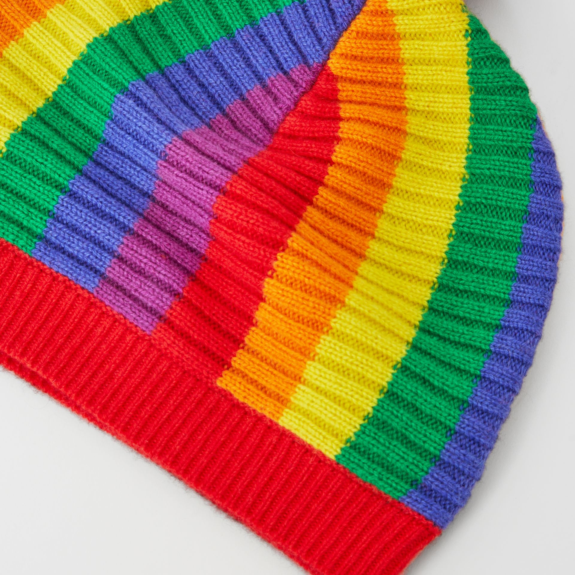 Striped Wool Cashmere Beanie in Multicolour | Burberry - gallery image 4