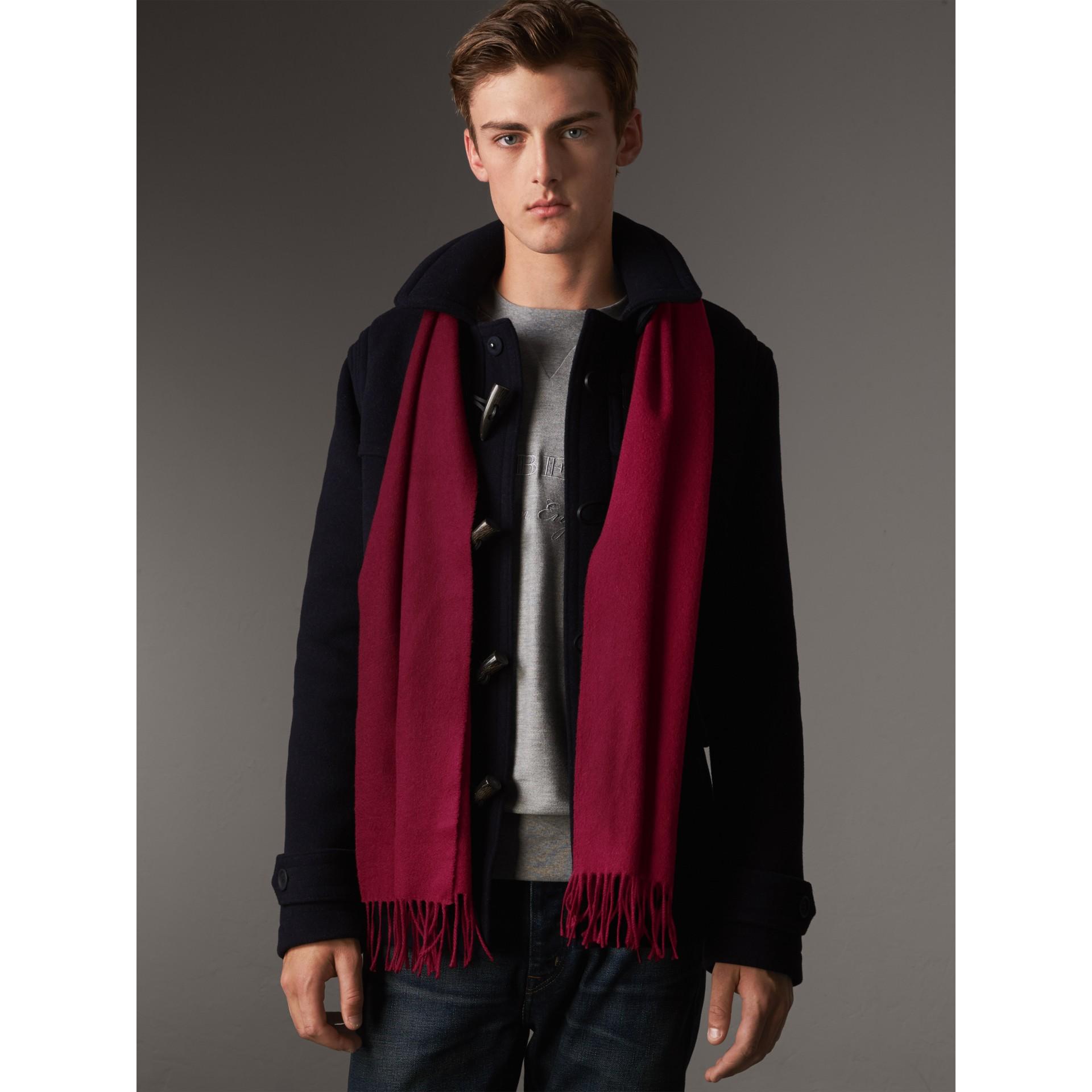 Классический шарф из кашемира (Сливовый) | Burberry - изображение 4