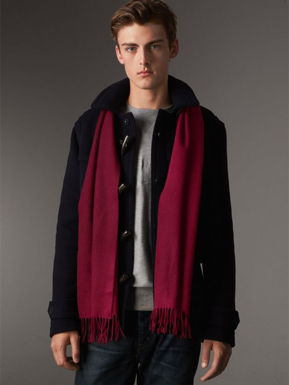 The Classic Cashmere Scarf in Plum | Burberry Canada - cell image 3