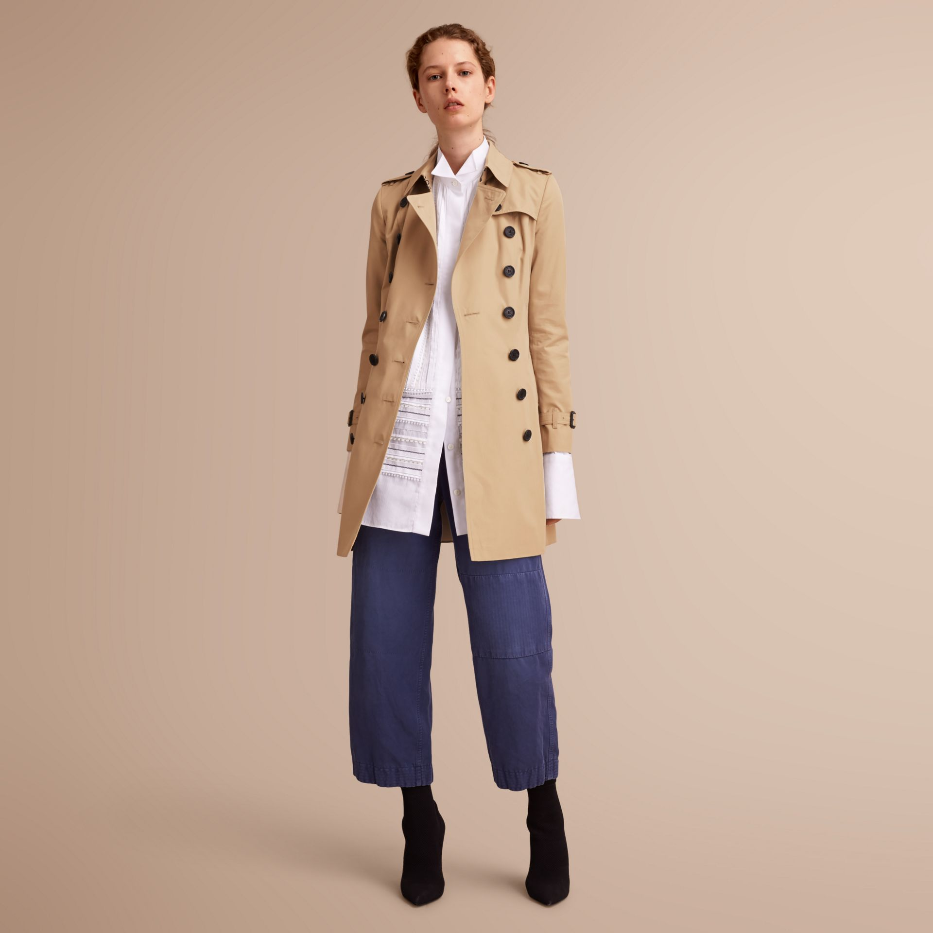 The Chelsea – Mid-length Heritage Trench Coat in Honey - gallery image 7