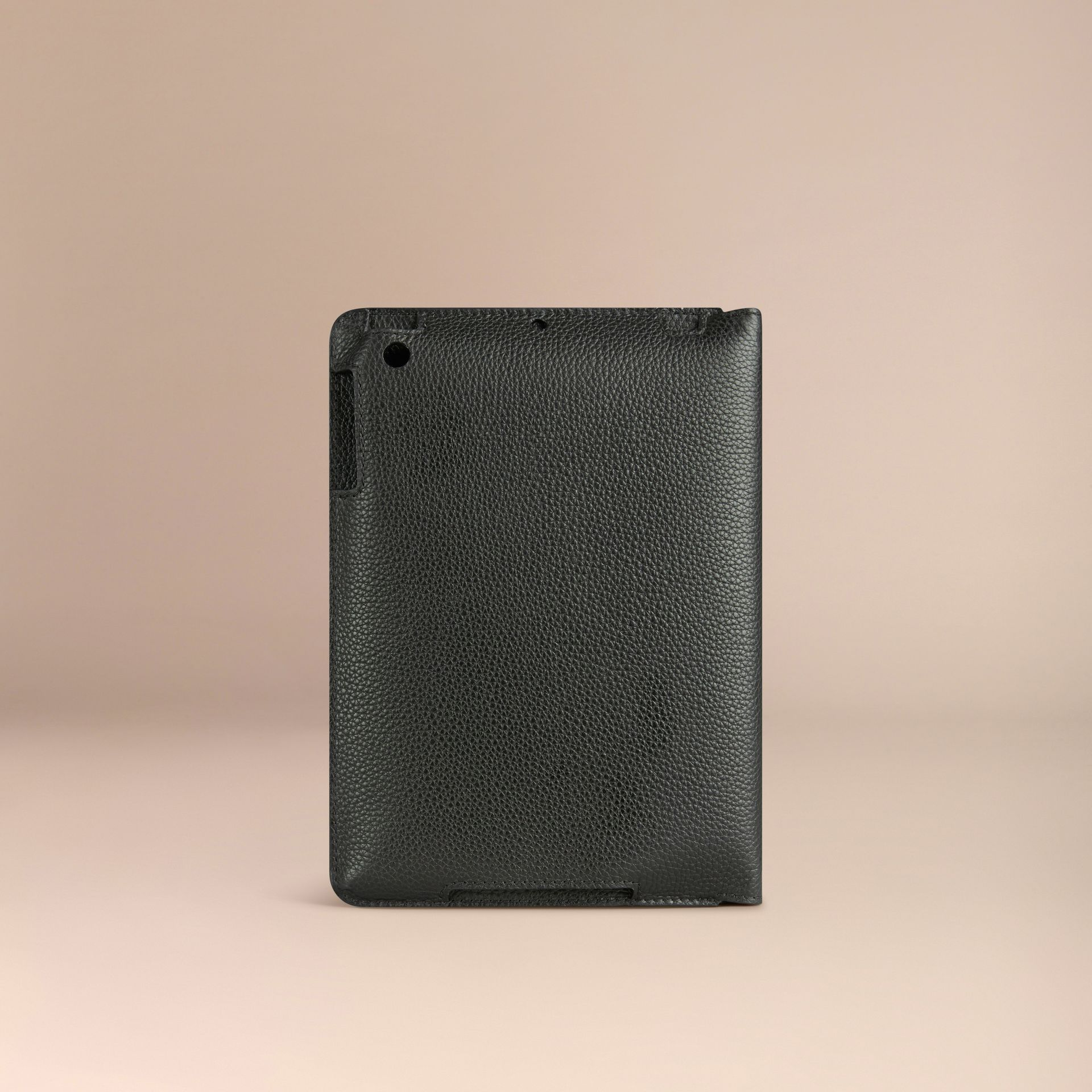 Black Grainy Leather iPad Mini Case Black - gallery image 2