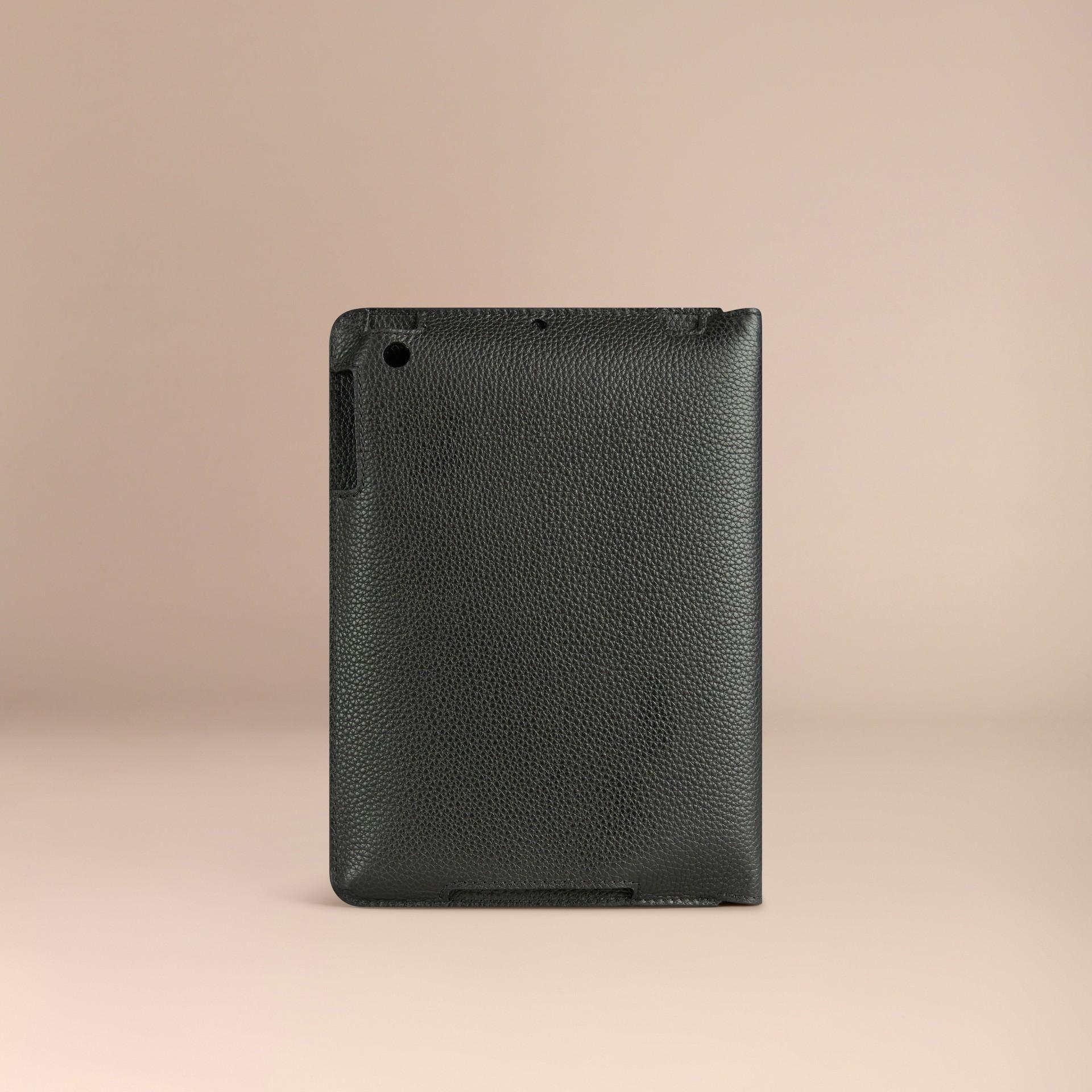 Nero Custodia per iPad mini in pelle a grana Nero - immagine della galleria 2