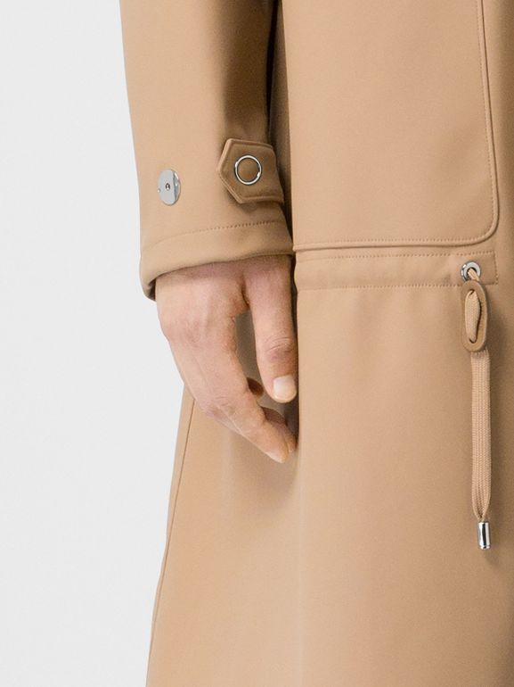 Detachable Hood Rubberised Parka in Honey | Burberry - cell image 1