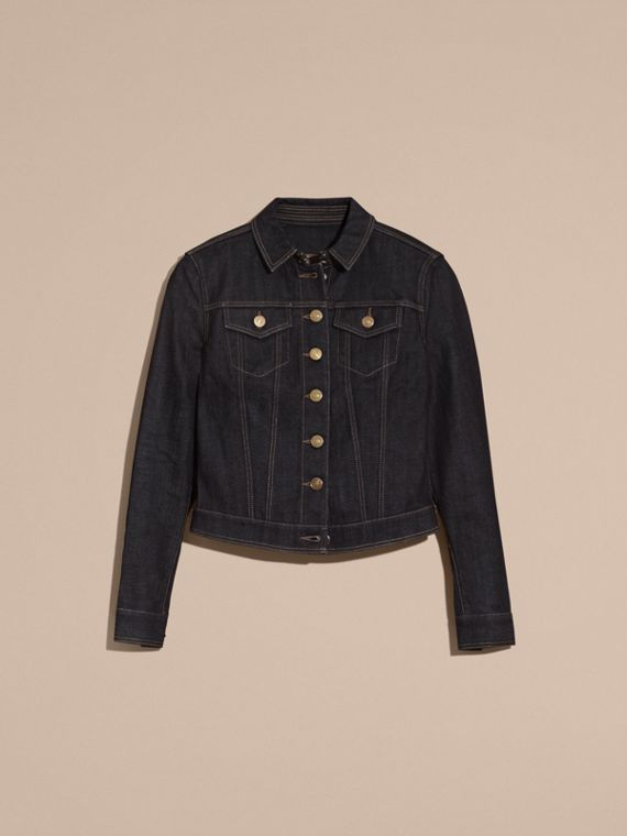 Indigo Japanese Stretch Selvedge Denim Jacket - cell image 3